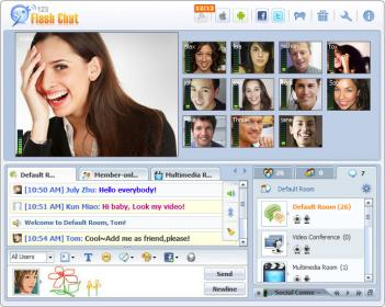 Elgg Chat Module Screenshot