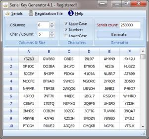 Serial Key Generator Screenshot