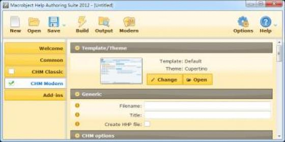 ChmHelp Authoring Suite 2012 Screenshot