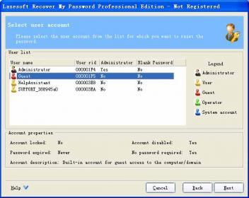 Lazesoft Recover My Password Pro Screenshot
