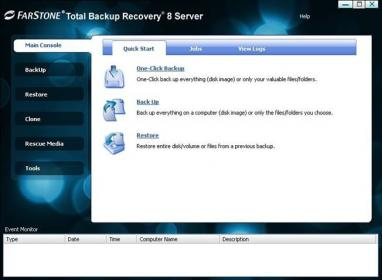 FarStone TotalBackup Server Screenshot