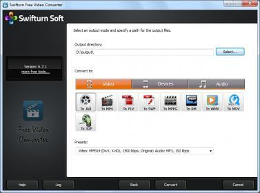 Swifturn Free Video Converter Screenshot