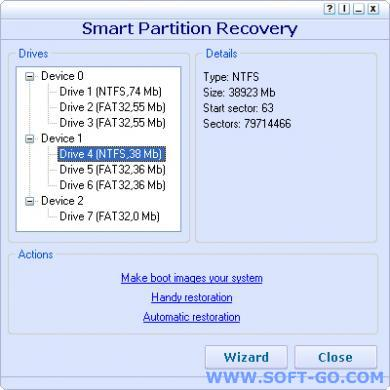 Smart Partition Recovery Screenshot