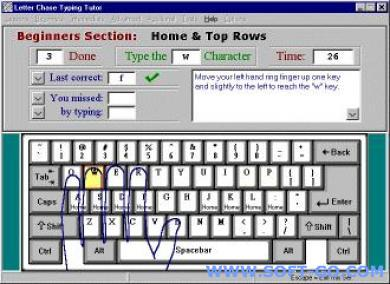 Letter Chase Typing Tutor Screenshot