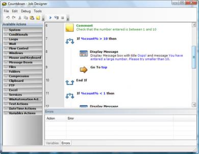 WinAutomation Screenshot
